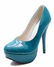Calzado de mujer azules de sintético, talla 37