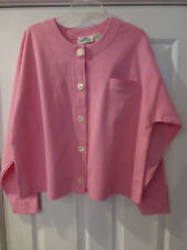 NWOT CARROLL REED VTG KNIT TOP BLOUSE XL LS PINK