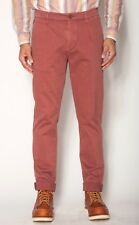 JACHS New York Montauk Fit Wine Color Pants Relaxed Hip Tapered Leg Size 32