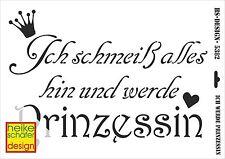 Schablone - A3 - Art.Nr. 009-5382  Ich schmeiß alles hin und... - Heike Schäfer