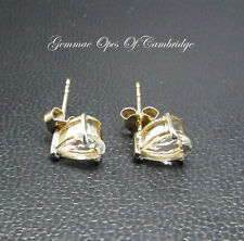 9K gold 9ct Gold Pear cut Goshenite Earrings 1.53g 1.4 carats