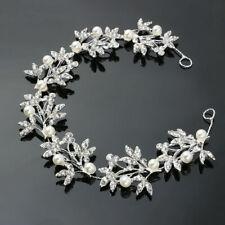 Flower Wedding Headband Hair Vine Bridal Crystal Pearl Bridesmaid Accessories UK