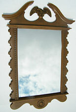 Mirror Large Vtg Frame Turner Accessory Eagle Wall Hanging Homco Mid Century