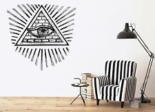 Vinyl Decal Wall Sticker Images all seeing eye of the Illuminati annuit (n693)