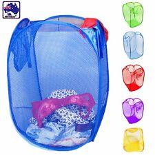 Laundry Foldable Basket Pop Up Clothes Washing  Bag Storage Bin Mesh HBASK01