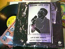 MINT/M- 1985 LP~DARLENE LOVE & MONTE CARLO~LIVE at HOP SINGHS~RHINO~HEAR YOUTUBE
