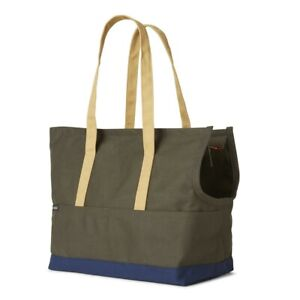 Dog Carry Carrier Tote Canvas Bag Love Thy Beast, RRP $250 Olive Green 48 X 40