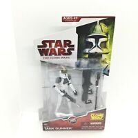"""STAR WARS CLONE TANK GUNNER CW36 RARE 3.75"""" LEGACY COLLECTION THE CLONE WARS"""