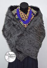 Australian Made Grey Faux Toy Fur Wrap Shawl Shrug by Lucy's Envy W102-14