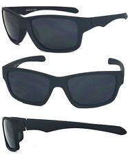 Matte flat rubberized black sunglasses retro square shade UV400 WF31