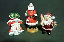 Duncan Royale Santa Figurine and Two Other Santa's, Small