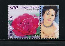 Indonesia 2001 #1945B Greetings INUL DARATISTA  flora  1v. +label   MNH  M762