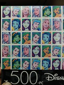500 piece puzzle Disney Princesses collage stay home boredom cure kids childs