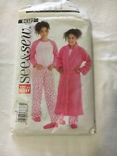 BUTTERICK PATTERNS B4322 Girls' Robe, Top and Pants, Size A(7-8-10)