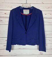Cartonnier Anthropologie Women's L Large Black Striped Spring Soft Knit Jacket
