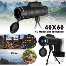 40X60 Zoom Optical HD Lens Monocular Telescope Starscope Hunting Camping Hiking