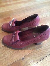 Vintage Bass Saddle Shoes 7 Heels Loafers Pumps