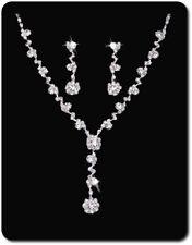 Jewelry Set Earrings Set Necklace Rhinestone Bride Studs Necklace
