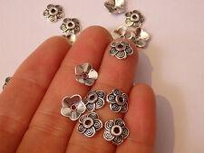 30 bead caps tibetan silver antique vintage jewellery making wholesale UK -76