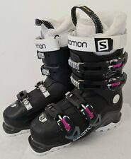 Salomon X Access 60W-Wide Ski Boots - Black/White/Purple - Size 24.5