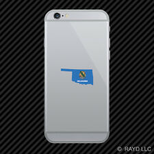 Oklahoma State Shaped Flag Cell Phone Sticker Mobile OK