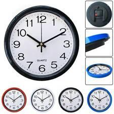 Round Wall Clock Quartz Silent Sweep Movement Home Bedroom Office Clocks Decor