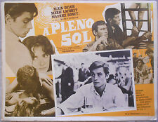PLEIN SOLEIL René Clément ALAIN DELON Maurice Ronet Aff. Mexicaine 1960