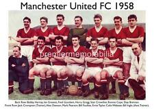 MANCHESTER UNITED FC 1958 HARRY GREGG BILL FOULKES JACK CROMPTON SHAY BRENNAN