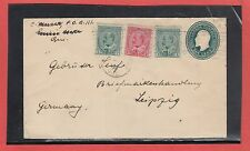 Canada Edward uprated cover to GERMANY 5c UPU rate 1908 receiver