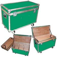 "Ata ""Bully"" Supply Trunk 1/4"" Case w/2 Dividers - Top Tray - Wheels - Green Case"