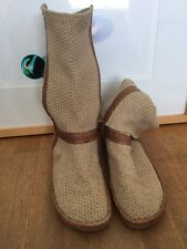 Rare And Unusual Bronx Designer Knitted Slouch Boots 41  7.5 Women's