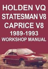 HOLDEN VQ STATESMAN V8 & CAPRICE V8 1989-1993 WORKSHOP MANUAL