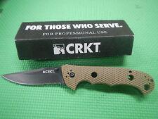 "CRKT CR7914DB Hammond Cruiser Folding Knife Blk 3.75""Combo Clip/Desert Tan Zytel"