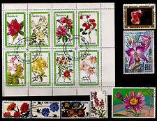 GUINEE EQUATORIALE   Bloc et timbres : différentes sortes de fleurs BL165