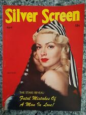 Vintage Silver Screen Magazine April 1945 LANA TURNER Cover VG++