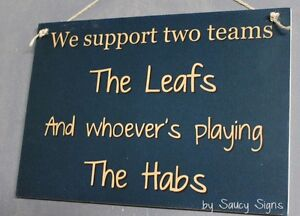 Leafs versus Habs Hockey Sign - Toronto Maple Leafs v The Montreal Canadiens