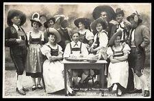 original postkarte INNSBRUCK tiroler sanger u. tanzerkruppe mayr - blaas