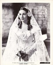 JOAN FONTAINE Wedding Dress Original Vintage 1943 JANE EYRE Fox Portrait Photo