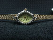 VINTAGE LADIES MATHEY TISSOT GOLD PLATED DIAMONDS WATCH