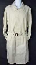 Medium 38-40 Haute Route Belted Trench Coat Khaki Tan Cotton Lightweight M