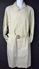 Medium 38-40 Haute Route Belted Trench Coat Khaki Tan Cotton Lightweight M