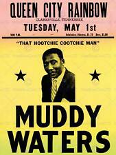MUSIC CONCERT ADVERT MUDDY WATERS LEGEND BLUES USA ART PRINT POSTERBB6778B