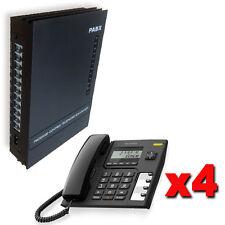 Centralino telefonico PABX 3/8 linee 4 telefoni Alcatel display manuale italiano
