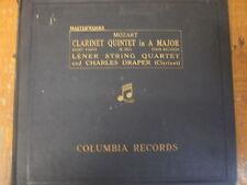 L 2252-55 Mozart Clarinet Quintet Lener  Quartet / Charles Draper 4 x 78rpm