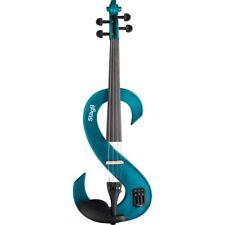 E-violino Stagg 4/4 Silent Violini Set Blu-metallizzato