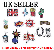 Set of 13 Pcs Embroidery Sew Iron on transfer Patch badge craft fabric Applique