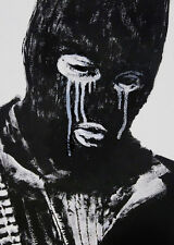 Banksy Crying Terrorist street art on Canvas 24 x 30 inch Print graffiti