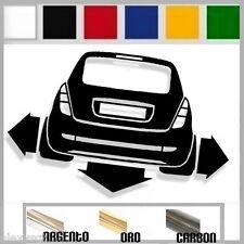 adesivo sticker LANCIA YPSILON elefantino tuning down-out dub prespaziato,auto