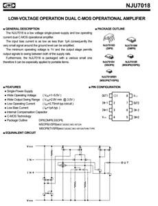 10 pieces NJU7018J LOW-VOLTAGE DUAL C-MOS OPERATIONAL AMPLIFIER JRC MSOP8