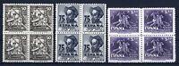 Sellos de España 1947 nº 1012/1014 Bloque de cuatro Cervantes